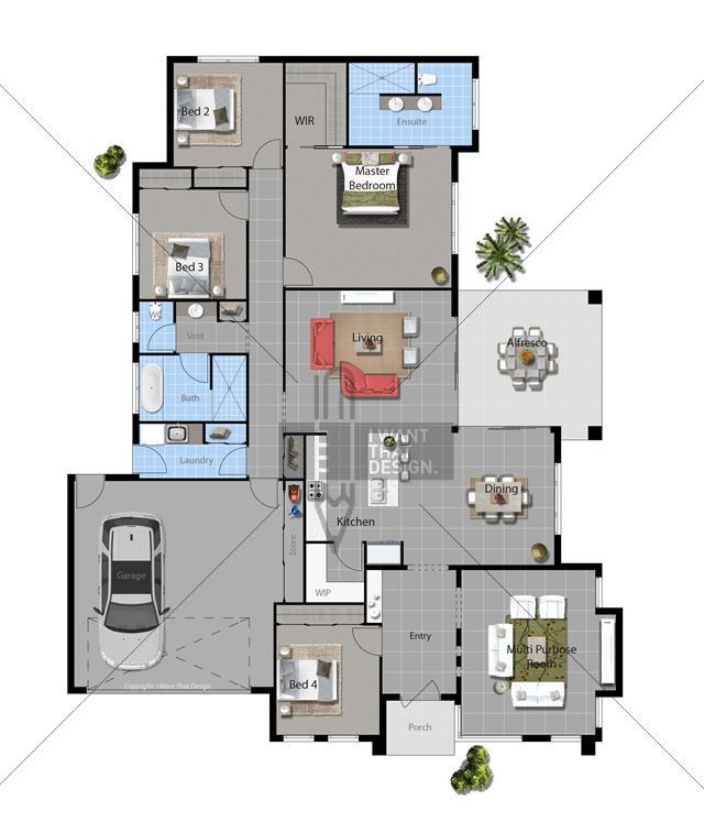 Temecula Contemporary Floor Plan