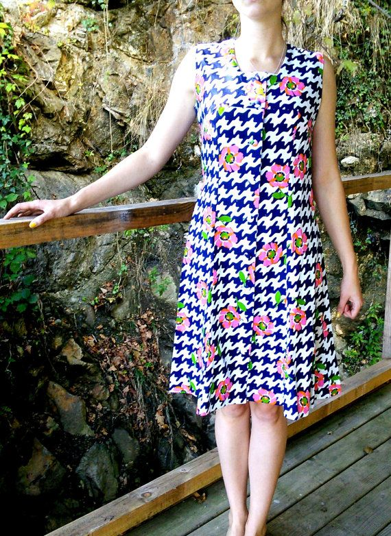 Unworn Vintage Dress 100% Cotton 1970s by FromParisToProvence