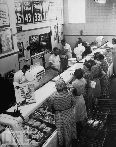 1955 Meat Market & its Customer's