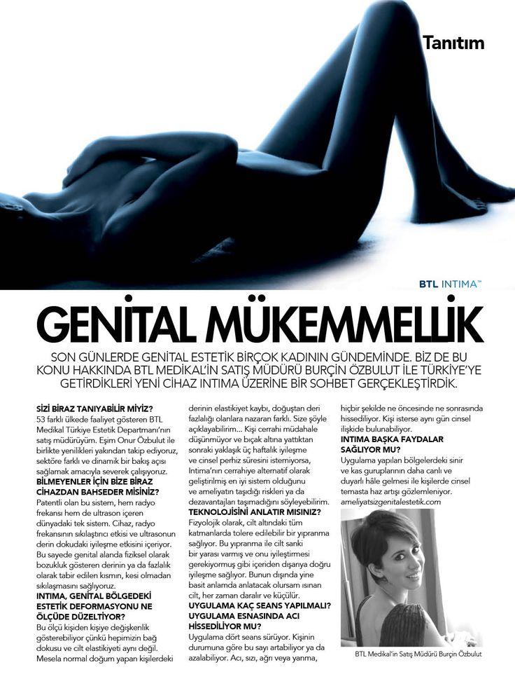 Marie Claire  BTL Intima ile Genital Mükemmellik Burçin Özbulut #BTLIntima #BTLAestetics