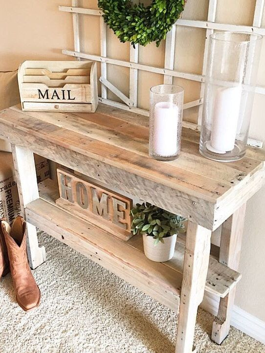 Rustic Entry Way Table by KirkseyCo on Etsy https://www.etsy.com/listing/234552335/rustic-entry-way-table