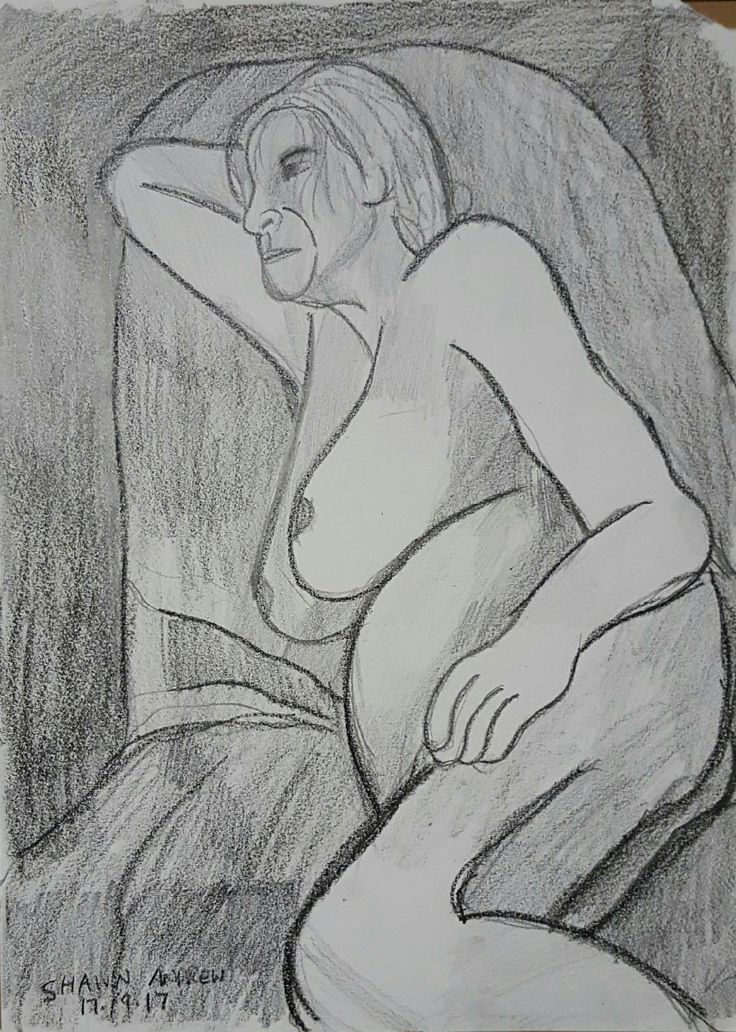 Figure drawing - Lumocolor pencil and lead pencil drawing on paper - 17/9/17 - #ShawnAndrewArtist #Art #Arte #Kunst #Drawing #ShawnAndrew_Artist