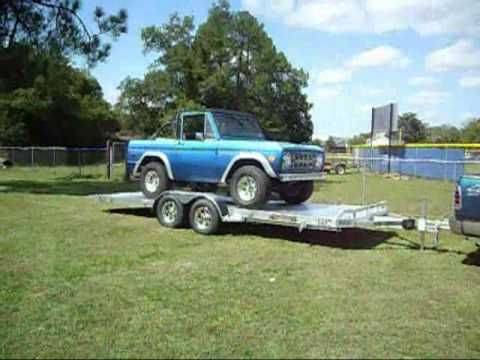 8218T aluma tilt car hauler trailer aluminum loading a 73 ford bronco 8220T demo video show just how easy it is to use.