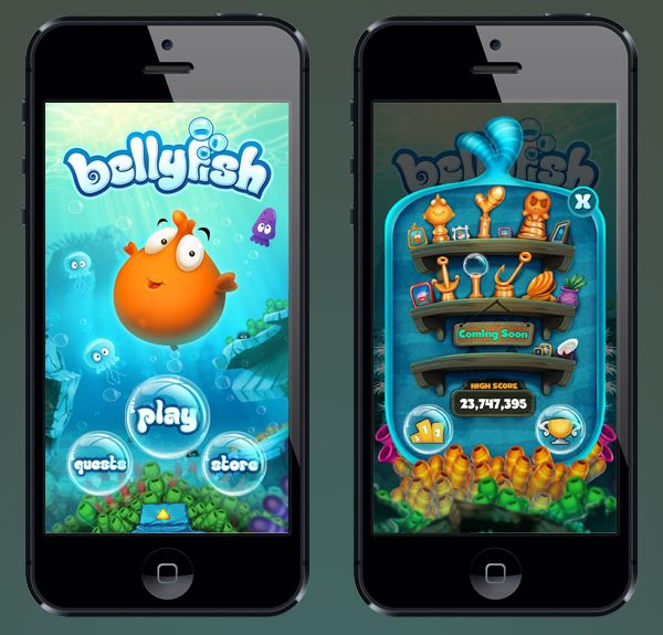 BellyFish - iphone/ipad game by Burç Pulathaneli, via Behance Like & Repin. Noelito Flow. Noel  Panda http://www.instagram.com/noelitoflow