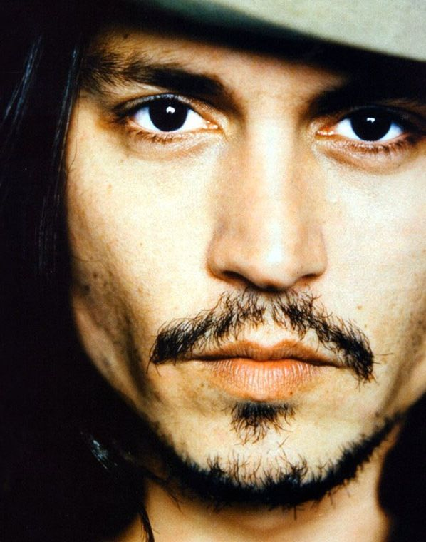 Johnny Depp, male actor, celeb, steaming hot, sexy, eye candy, moustache, powerful face, intense eyes, strong, portrait, photo