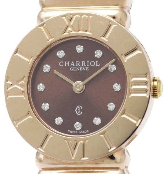 Philippe Charriol Saint Tropez 028/2 Quartz Rose Gold Plated 25mm Womens Dress Watch