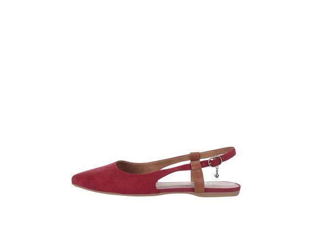 Červené balerínky s otevřenou patou s.Oliver -