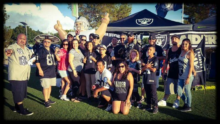 The Phoenician Raiders Booster Club at the 2016 preseason against the Cardinals in Phoenix! R4L 😍😀🏈💓