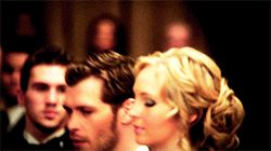 I love the way that Klaus looks at her, like he is seeing true beauty for the first time and he cant get enough of her