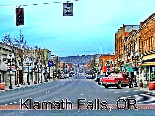 Beautiful Historic Klamath Falls OR Downtown Via Trendyful For IPhone