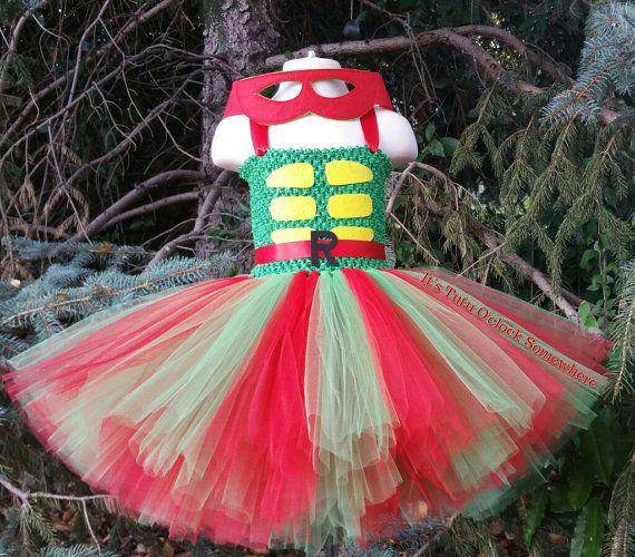 SALE  Ninja Turtle Tutu Dress Mask Sold by TutuOclockSomewhere