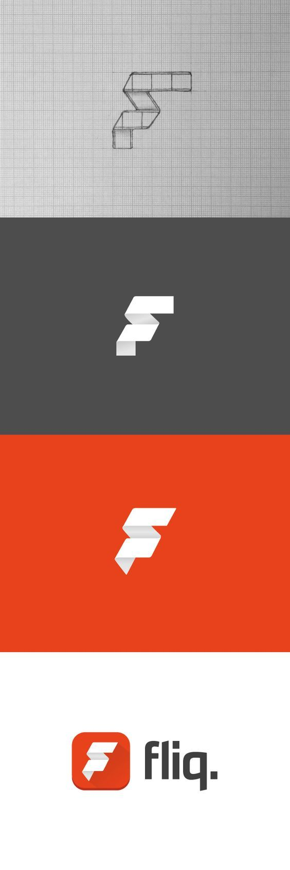 Austrailian Fliq Movie App. This picture shows how they went from folded film to what is now. Guess it would of been too typical to keep the film look.: