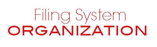 Filing System Organization