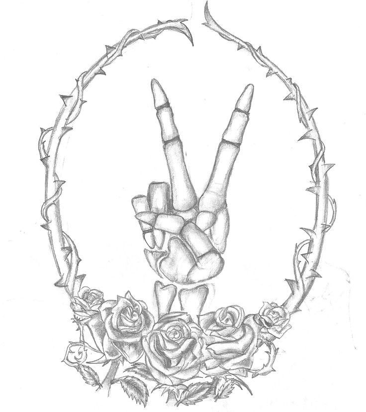 Custom Skeleton Peace Sign Tattoo Design | Young Wild and Inked | Email: youngwildandinked..., or visit my Etsy to get started on your custom tattoo design | #Custom #Skeleton #SkeletonTattoo #PeaceSign #PeaceSignTattoo #SkeletonHandTattoo #Thorns #Tattoos #Tats #Tatted #CustomTattooDesign #TattooDesign #TattooSketch #Sketch #DisneyTattoo #AwesomeTattoos #CustomDesign #Ink #CustomInk #Inked #YoungWildAndInked #Badass #GirlTattoos #BoyTattoos #SmallTattoos #HalfSleeve #FullSleeve…