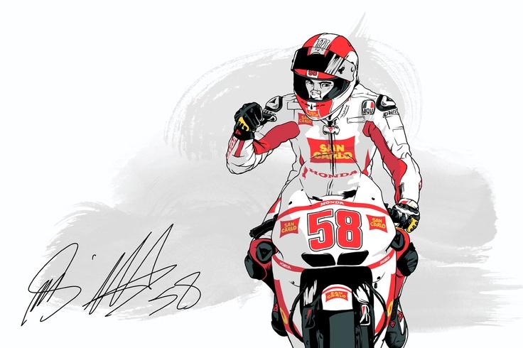 Marcos Cabrera » Illustration tribute to Marco Simoncelli