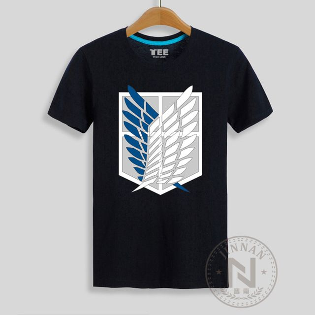 Check lastest price Attack On Titan Logo T Shirt Print Anime T-Shirt Men Tshirt Shingeki No Kyojin just only $13.05 with free shipping worldwide  #tshirtsformen Plese click on picture to see our special price for you
