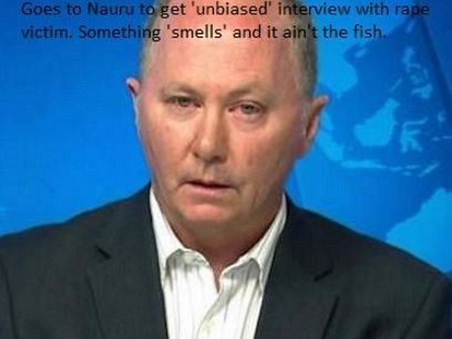 The only journalist granted a visa to Nauru has been Chris Kenny, who with a police escort immediately went to beat down the door of Nauru rape victim Abyan to further torment her. https://independentaustralia.net/politics/politics-display/chris-kenny-tortures-abyan,8288