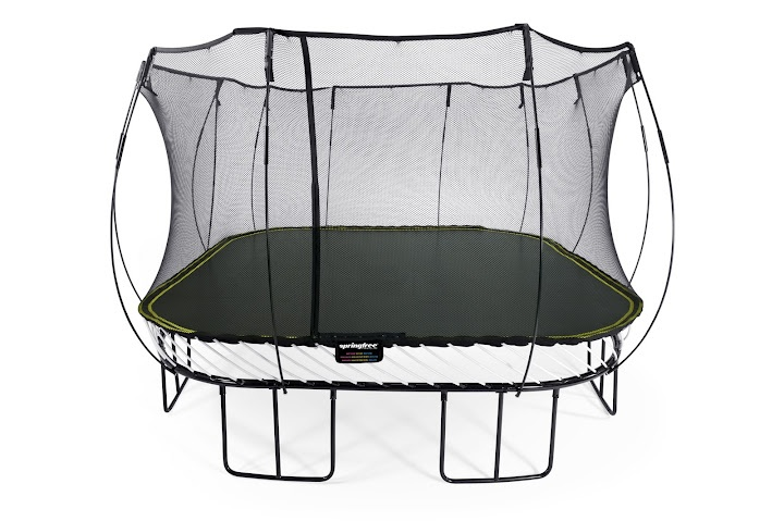 S155 Jumbo Square Springfree Trampoline: Our 13ft square trampoline is designed for spacious backyards and active jumpers.
