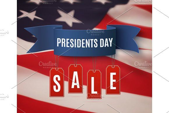 Presidents Day sale background template.. Textures