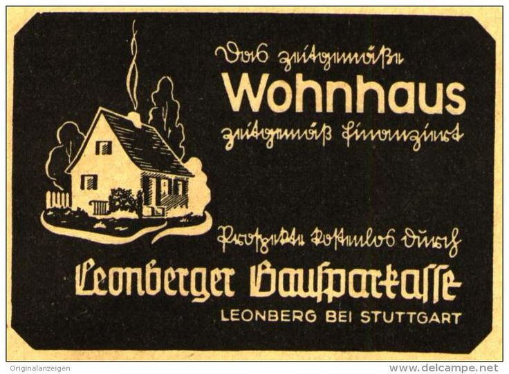 OriginalWerbung/ Anzeige 1950 LEONBERGER BAUSPARKASSE