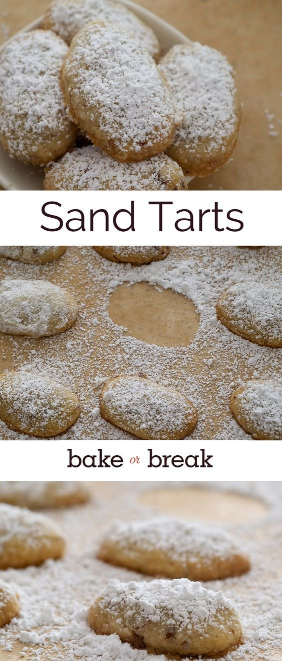 Sand Tarts are simple, delicious cookies made with just a handful of ingredients. ~ http://www.bakeorbreak.com
