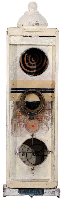 """Circulo Box,"" objects in found box, by Graceann Warn"
