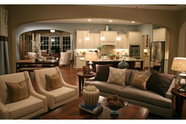 Amazing Open Floor Plan Furniture Layout Ideas Color Schemes Pinterest Decorating Ideas