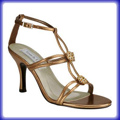 alana bronze high heel evening shoes wedding shoes