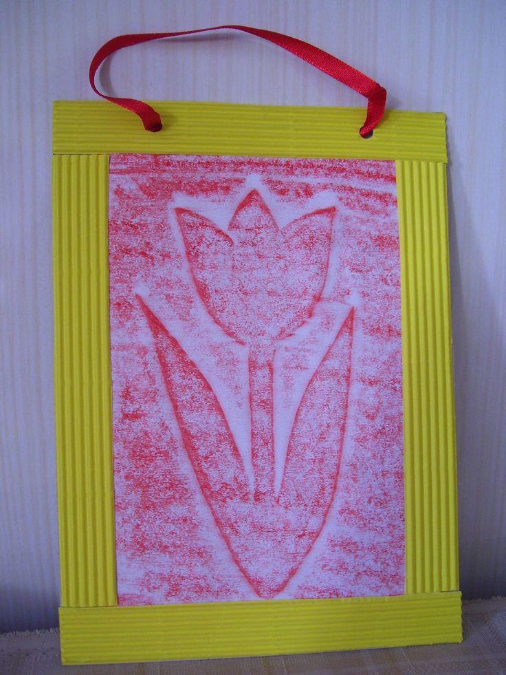 Tulipános kép