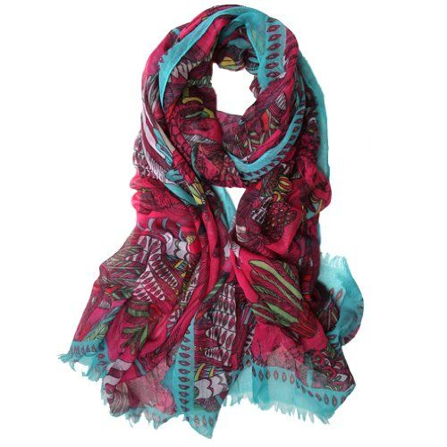 Scarfand`s Multi-color Feather Scarf