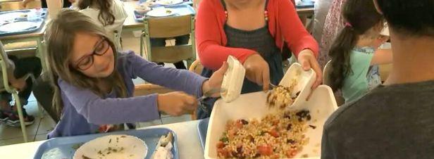 En France, la restauration collective est responsable d'un tiers du gaspillage alimentaire. 30% des repas sont gâchés quotidiennement. Dès septembre 2016, les établissements scolaires seront tenus de  montrer l'exemple. Reportage dans les cantines d'une école pionnière.