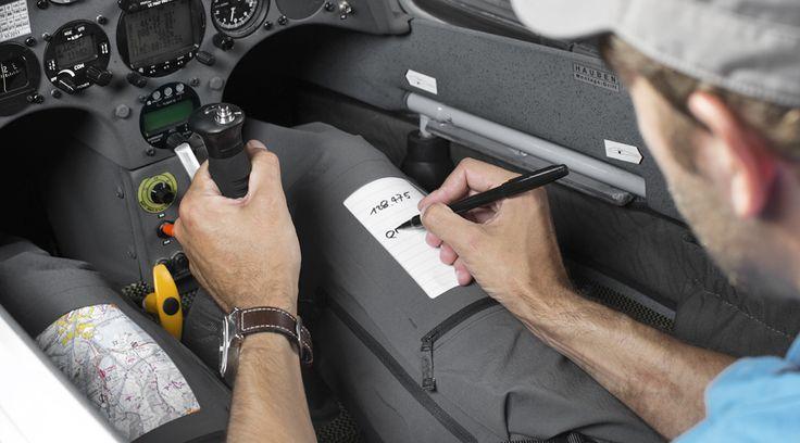 Schreibeinlagen mit Stifhalter für Checklisten, Notizen, VAC - Karten etc.