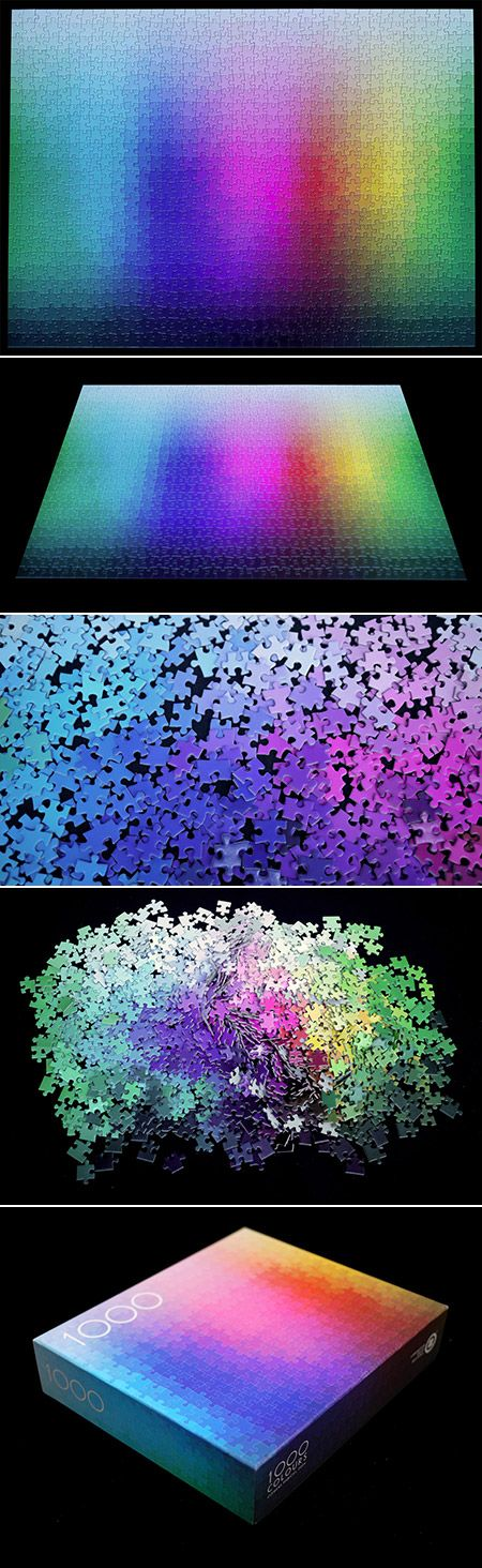 This 1,000-piece jigsaw puzzle contains exactly 1,000 different colors arranged in the form of a CMYK gamut and is guaranteed to drive you insane. The creator of the 1,000 Colors puzzle, Clemens Habicht, suggests the puzzle is actually easier than traditional image-based puzzles. When faced with a field of color, he says the placement of every piece becomes almost intuitive.