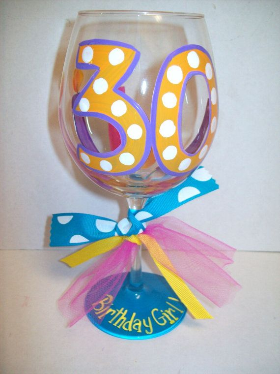 Hey, I found this really awesome Etsy listing at https://www.etsy.com/listing/125959586/30th-birthday-wine-glass