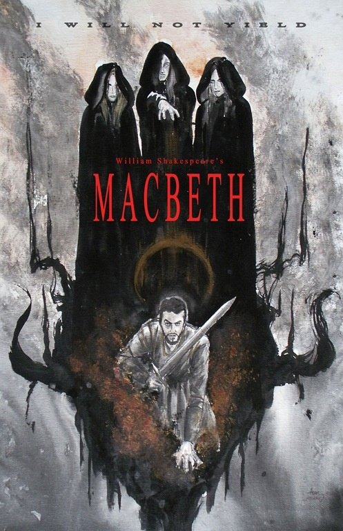 This poster is from (Chicago's) Roundhouse production of Macbeth. (One word…