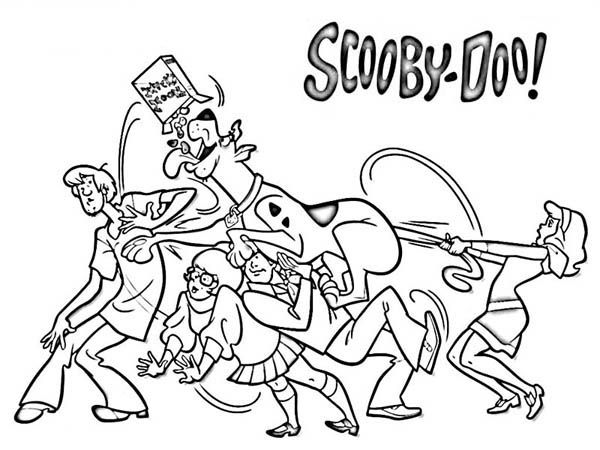 scooby doo colouring pages pdf