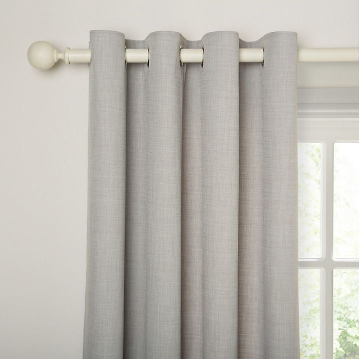 Buy John Lewis Barathea Lined Eyelet Curtains, Blue Grey, W135 X Drop 137cm  Online