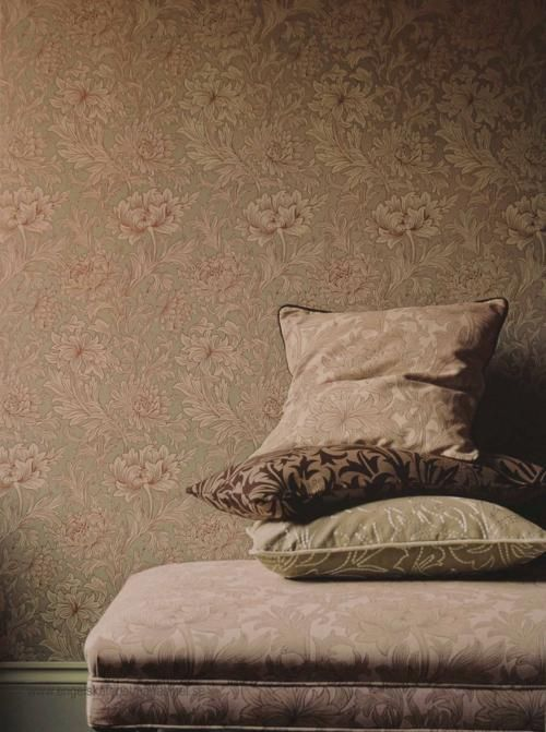 William Morris Chrysanthemum Toile Tapet