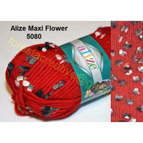 Alize Maxi Flower - Fir cu Flori Efect lana acril poliamida