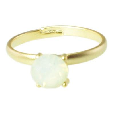 Sweet Deluxe Anello metallo cristallo bianco - spedizione gratuita - www.21diamonds.it