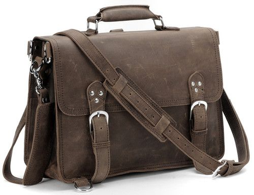 """NEW CLASSIC Fashion Vintage Leather Mens Briefcase Laptop Tote Shoulder Bag 