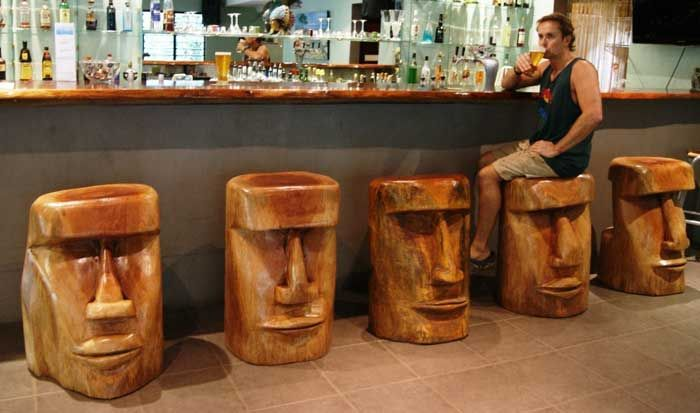Uncategorized , Impressive Imaginations And Ideas For Creating Extremely Unique Stools For Bars And Kitchen Bars Décor And Designs : Highly Unique Wooden Bar Stools