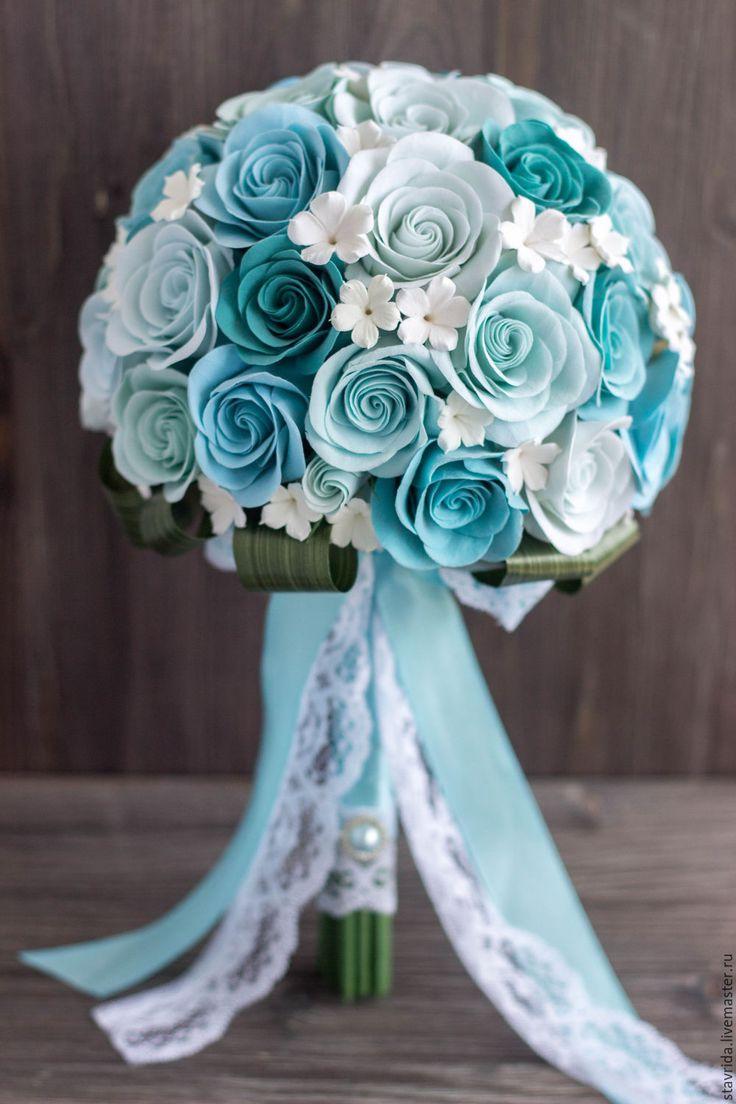 Букет из викторианских роз - голубой, букет невесты, свадебный букет, свадебные аксессуары, для невесты