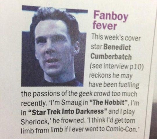 So, that's what he wasn't at SDCC 2013?...Valid reason. Atleast he and Martin sent a video for everyone to enjoy!