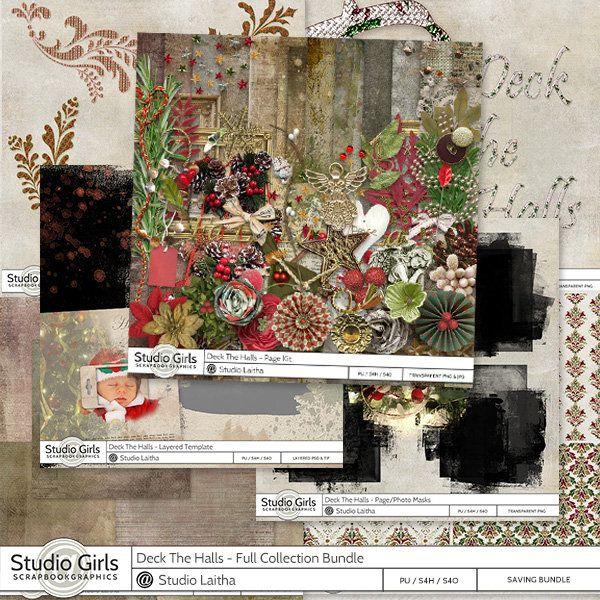 **NEW** Deck The Halls by Laitha's Designs  Available @ http://shop.scrapbookgraphics.com/Laitha/