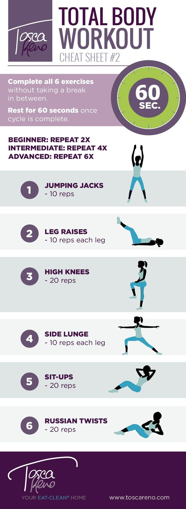 It's a glorious day to put your game face on, set a goal and go get it! Try this simple but effective Workout Cheat Sheet and get that heart pumping!