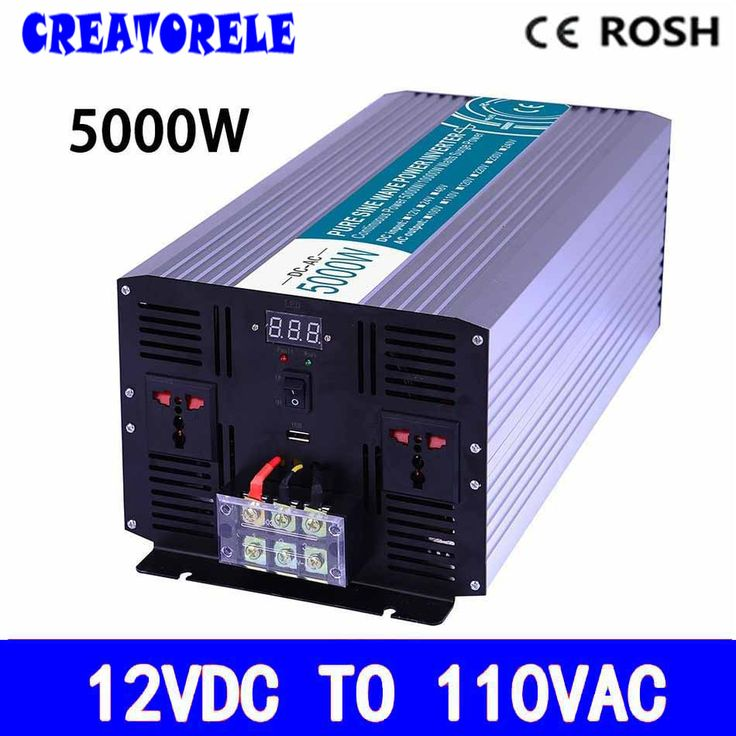 P5000-121 off grid 5000w inverter 12vdc to110vac pure sine wave voltage converter,solar inverter LED Display inversor #Affiliate