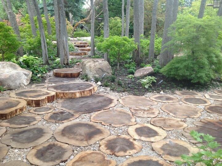 wood path deck garden pinterest