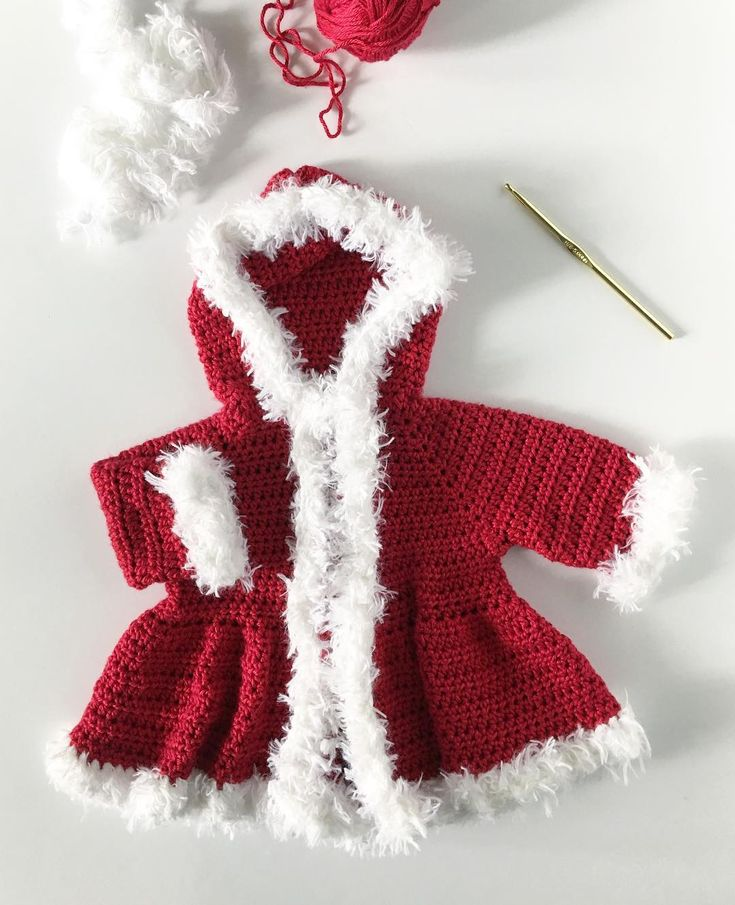 Crochet Baby Christmas Sweater - Daisy Farm Crafts Instagram