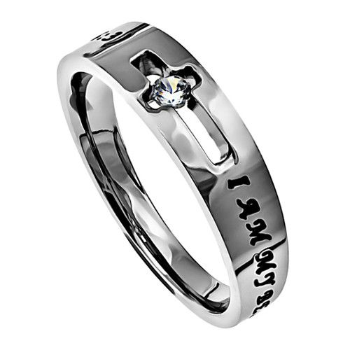I Am My Beloved's Promise Ring with Song of Solomon Bible Verse